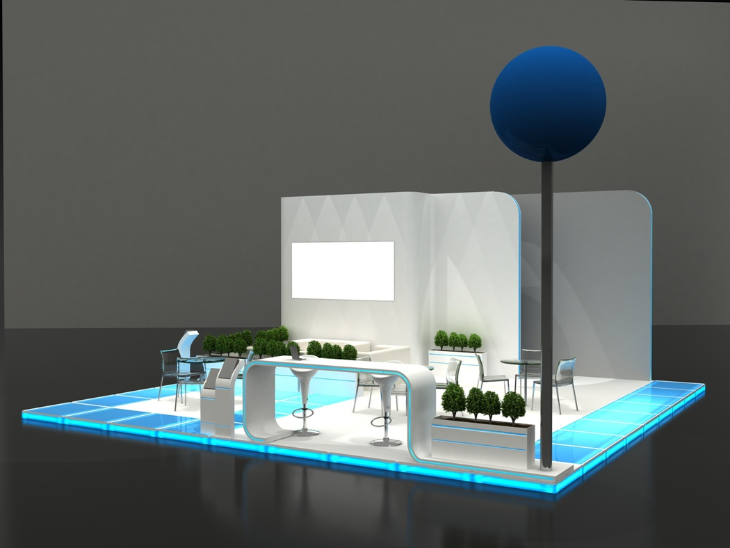 preview of design by exhibition stand manufacturer